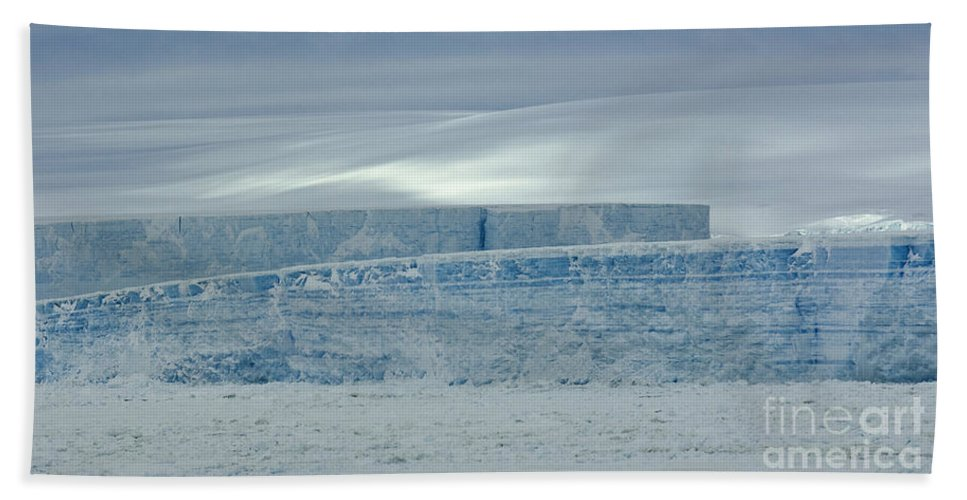 Iceberg Bath Sheet featuring the photograph Icebergs, Antarctica by John Shaw