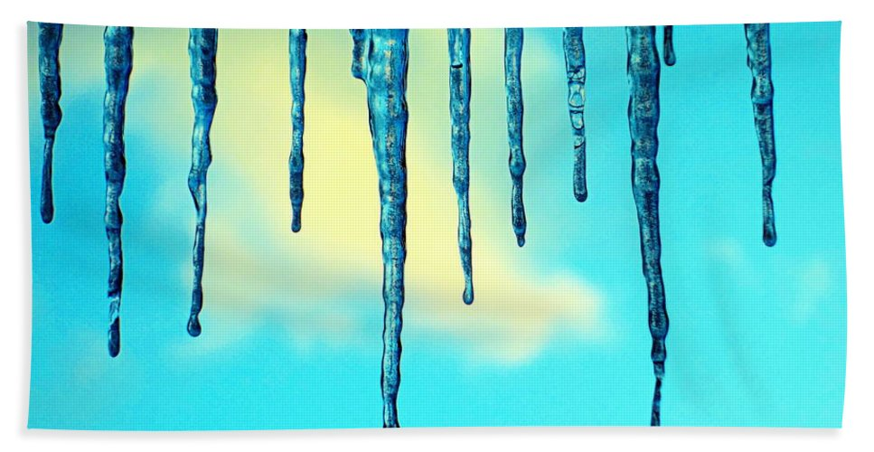 Ice Bath Sheet featuring the photograph Iced Sky by Valentino Visentini