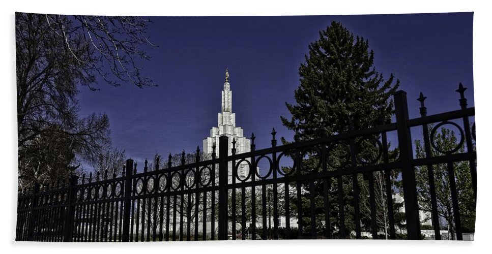 Idaho Falls Hand Towel featuring the photograph Idaho Falls Temple Series 4 by Image Takers Photography LLC - Carol Haddon
