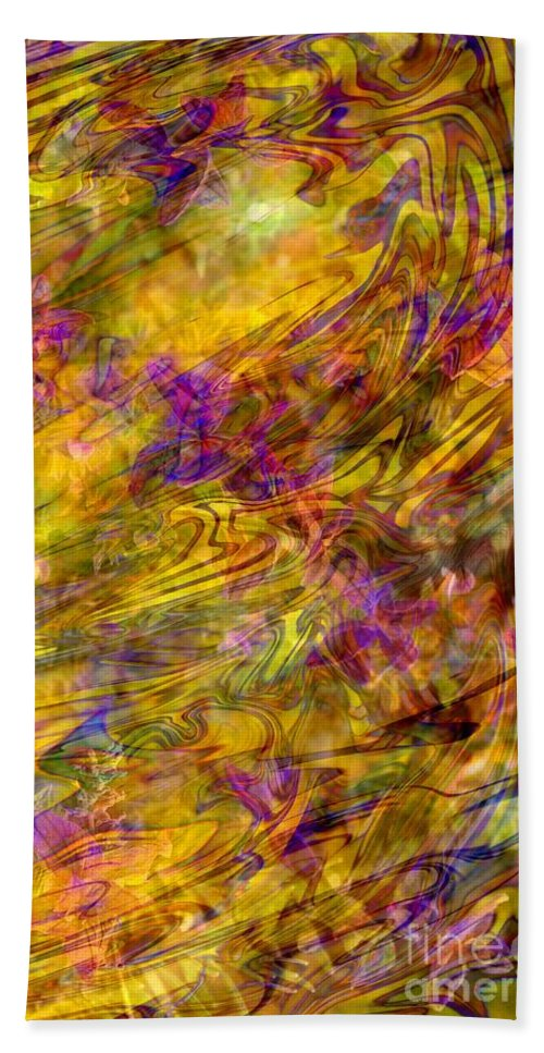 Abstract Bath Sheet featuring the photograph The Heavens Opened by Carol Groenen