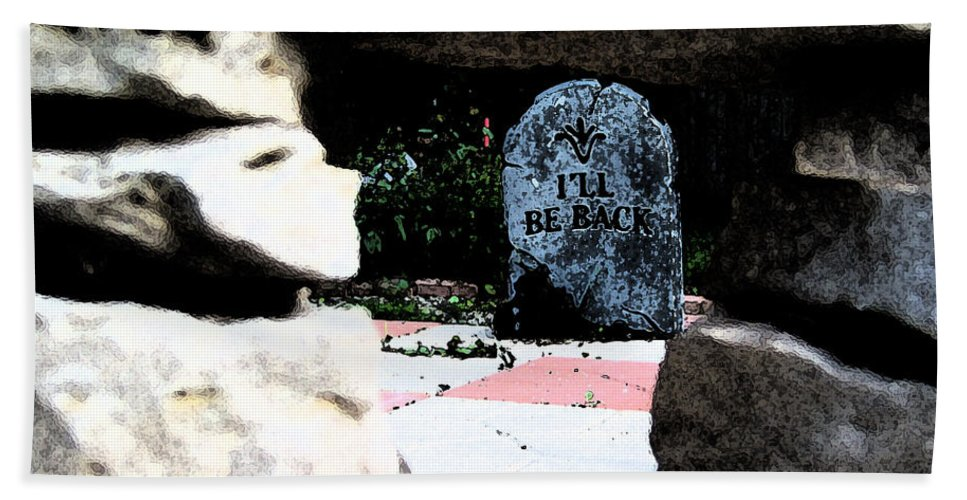 Irst Star Art Bath Sheet featuring the photograph I'll Be Back By Jrr by First Star Art