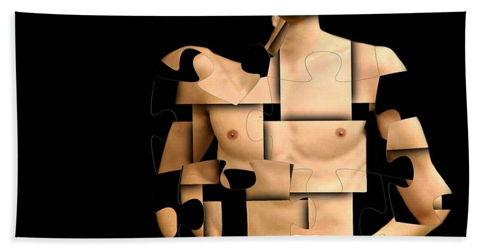 Puzzle Hand Towel featuring the photograph I'm Puzzled by Diana Angstadt