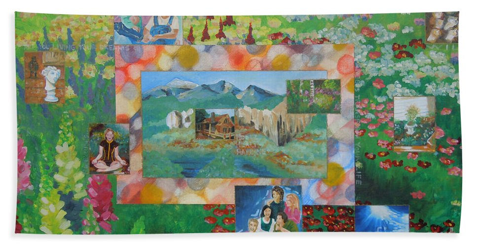 Landscape Hand Towel featuring the painting Image 98 by Tonya Henderson