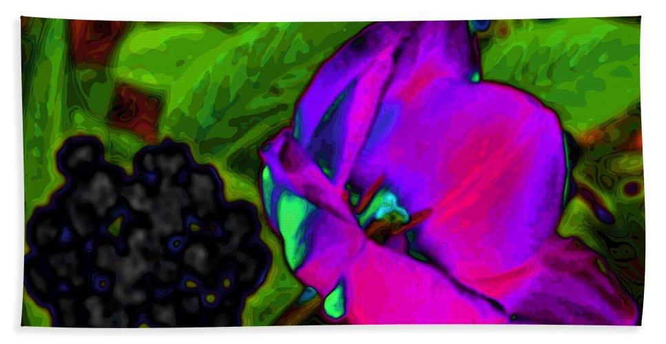 Tulips Bath Sheet featuring the digital art Imagine by Kristie Bonnewell