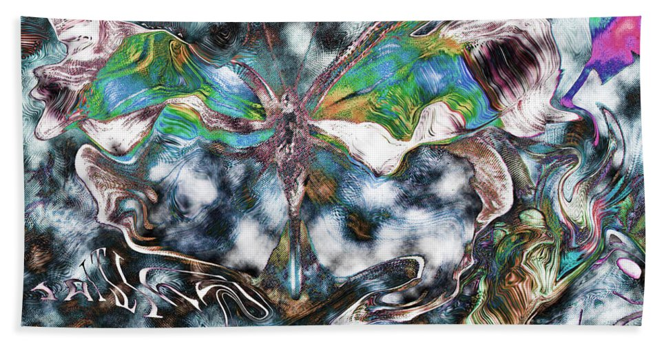 Butterfly Art Hand Towel featuring the photograph Imagine Number 2 Butterfly Art by Andy Prendy