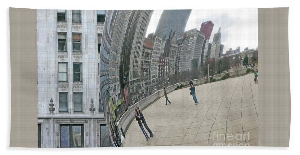 Chicago Hand Towel featuring the photograph Imaging Chicago by Ann Horn