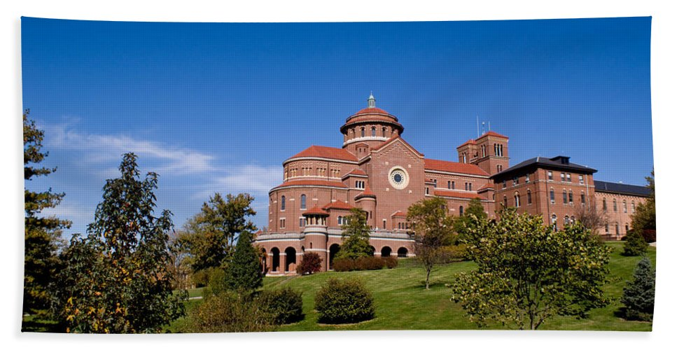 Monasteries Hand Towel featuring the photograph Immaculate Conception Monastery by Sandy Keeton