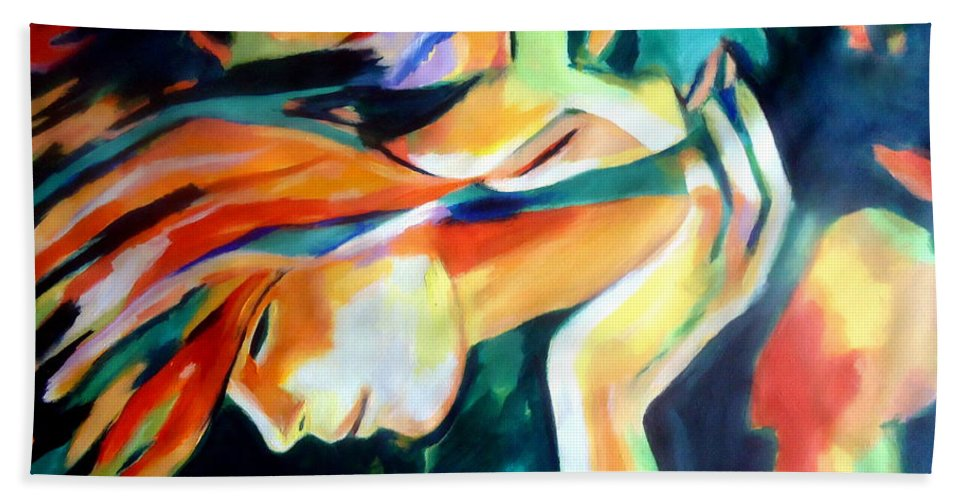 Affordable Original Paintings Bath Sheet featuring the painting Immortal Love by Helena Wierzbicki