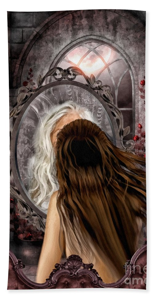 Immortality Bath Towel featuring the painting Immortality by Mo T
