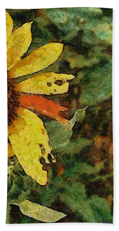 Beauty Bath Sheet featuring the painting Imperfect Beauty by Jeffrey Kolker