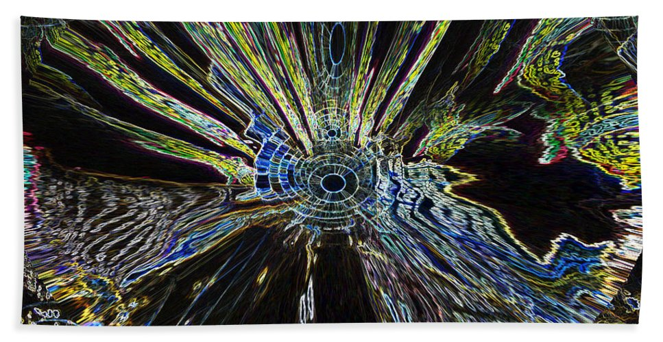 Space Bath Sheet featuring the photograph Implosion by Alli Cullimore