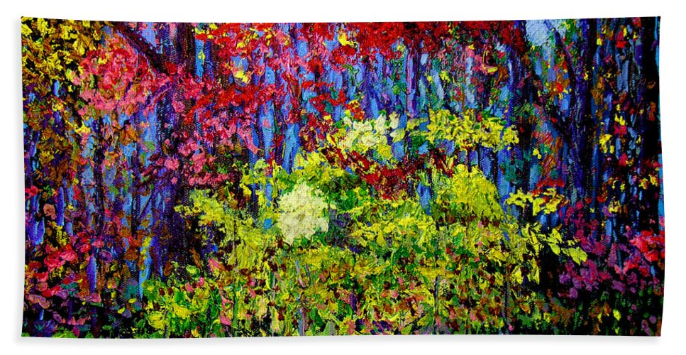 Impressionism Bath Sheet featuring the painting Impressionism 1 by Stan Hamilton