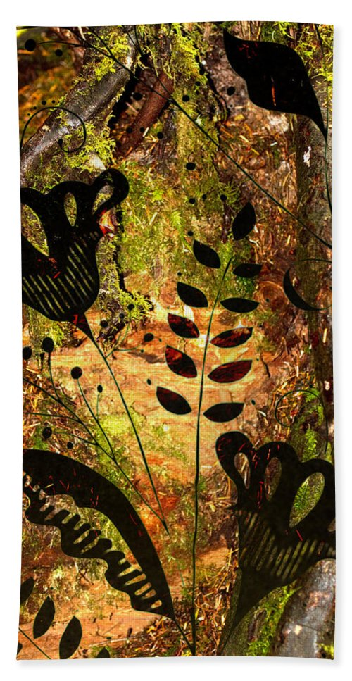 Forest Bath Sheet featuring the photograph Impressions - Forest - Flowers by Marie Jamieson