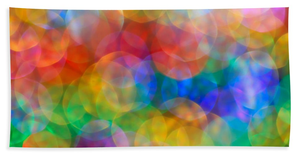 Abstract Bath Sheet featuring the photograph In A Daydream by Dazzle Zazz