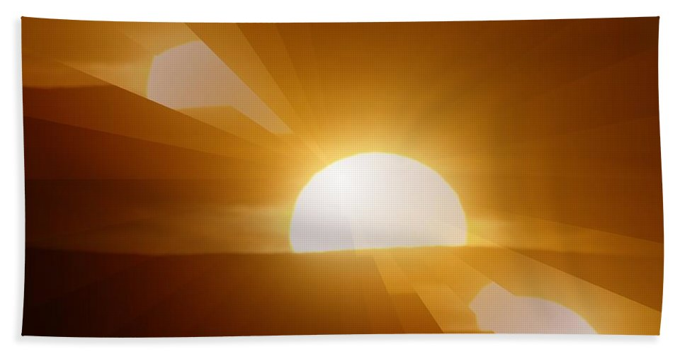 Sun Hand Towel featuring the photograph In All The Glory by Jeff Swan
