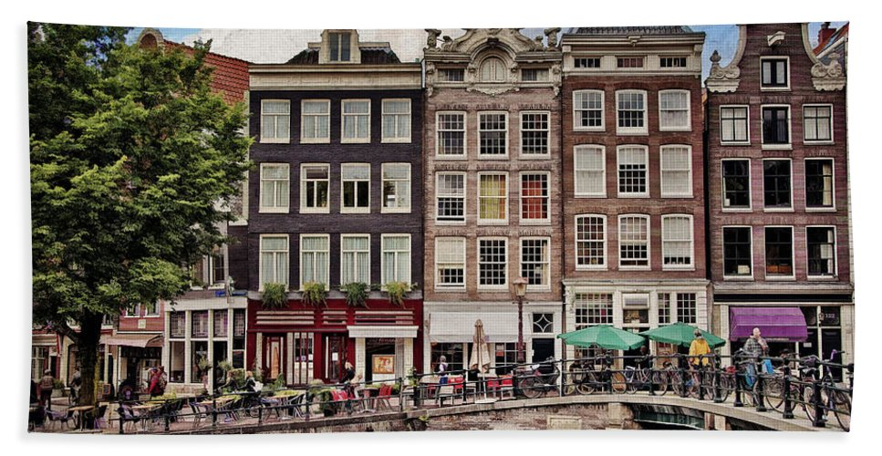 Amsterdam Bath Sheet featuring the photograph In Another Time And Place by Joan Carroll
