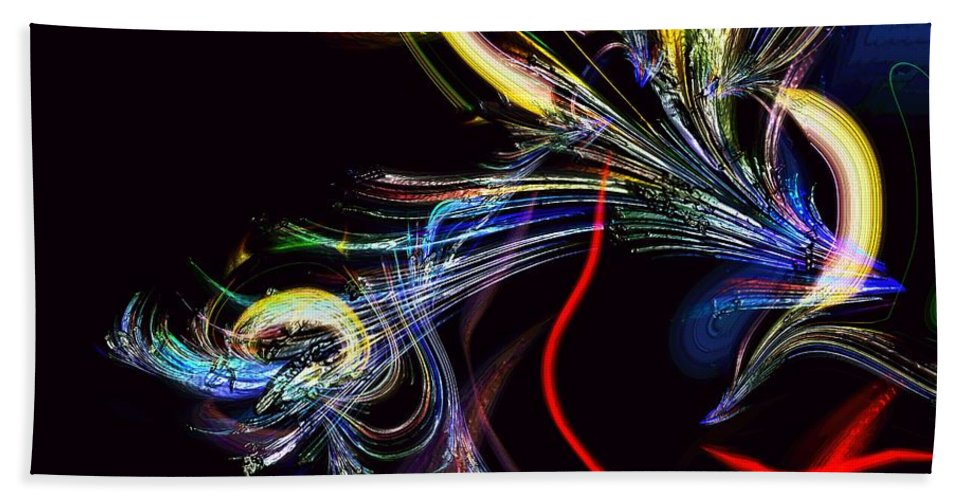 Abstract Bath Sheet featuring the photograph In Celebration Of Things Cerebral by Richard Thomas