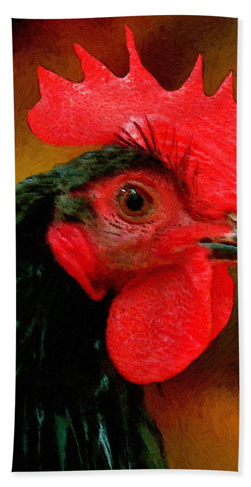 Bird Hand Towel featuring the painting In Fine Fettle by RC deWinter