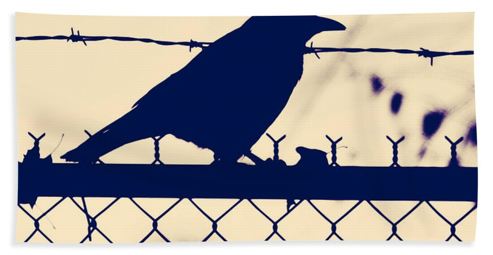 Bird Hand Towel featuring the photograph In Search For Worm by The Artist Project