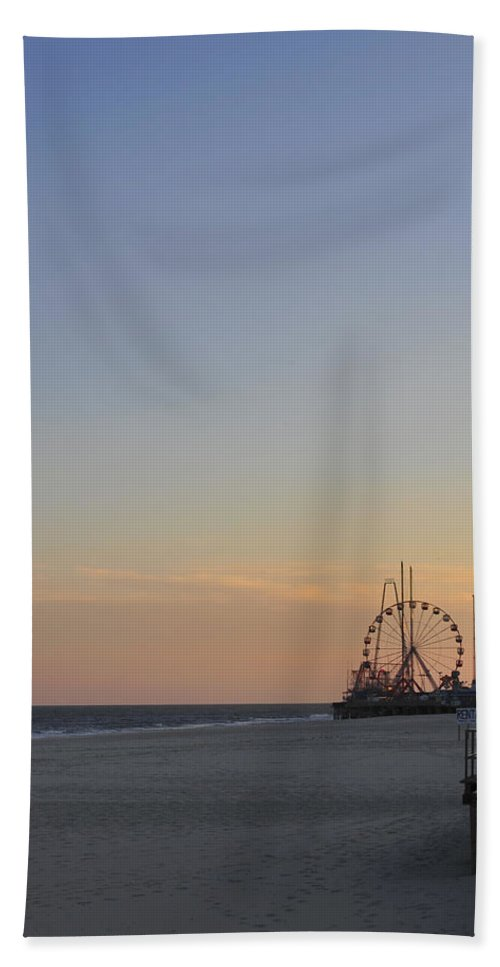 Funtown Pier Hand Towel featuring the photograph In The Distance by Terry DeLuco