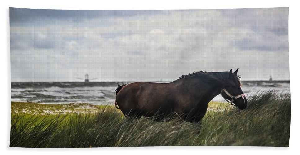 Horse Bath Sheet featuring the photograph In The Tall Grass by Paula OMalley