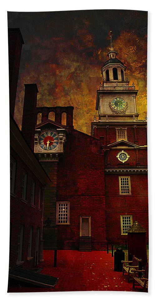 Philadelphia Hand Towel featuring the photograph Independence Hall Philadelphia Let Freedom Ring by Jeff Burgess
