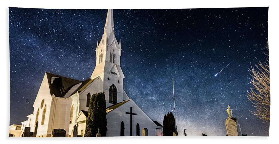 Indherred Church Hand Towel featuring the photograph Indherred Church by Aaron J Groen