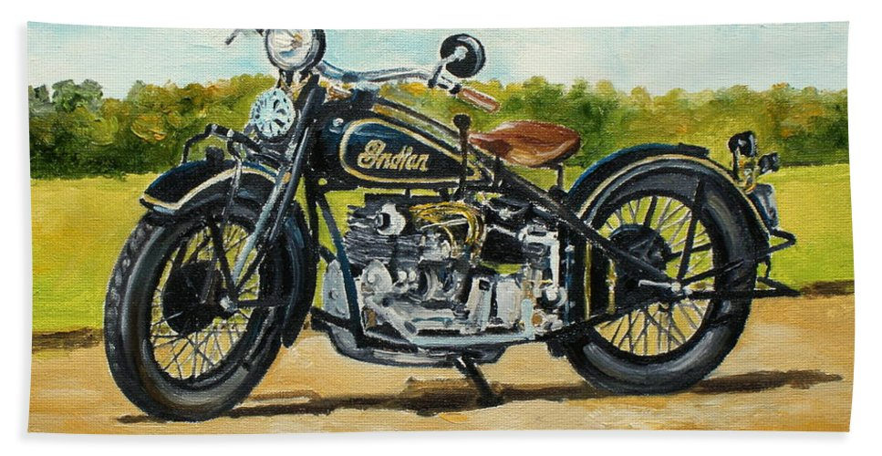 Indian Hand Towel featuring the painting Indian Four 1933 by Luke Karcz
