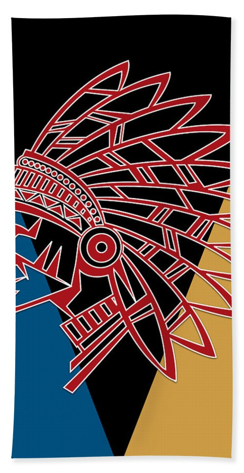 Chief Hand Towel featuring the photograph Indian Head Series 01 by Carlos Diaz