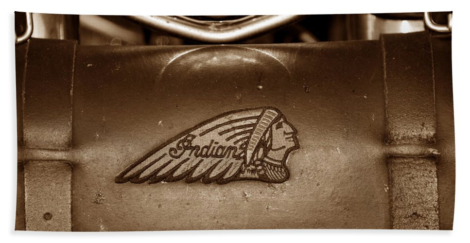 Indian Motorcycles Hand Towel featuring the photograph Indian Motorcycles by David Lee Thompson