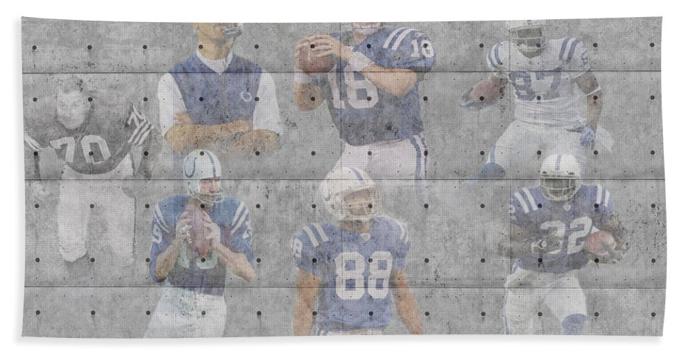 Colts Bath Sheet featuring the photograph Indianapolis Colts Legends by Joe Hamilton
