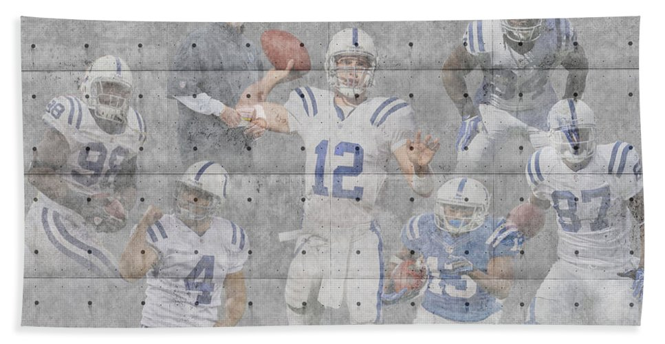 Colts Bath Sheet featuring the photograph Indianapolis Colts Team by Joe Hamilton