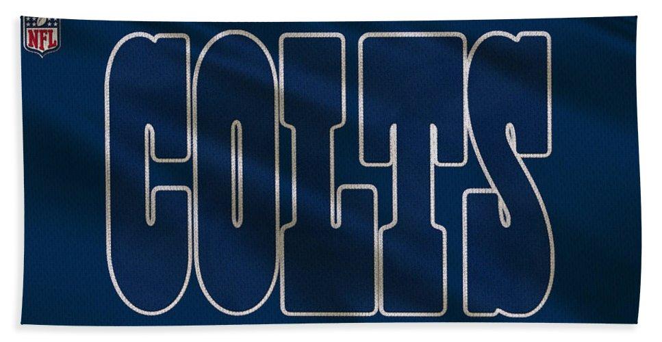 Colts Bath Sheet featuring the photograph Indianapolis Colts Uniform by Joe Hamilton