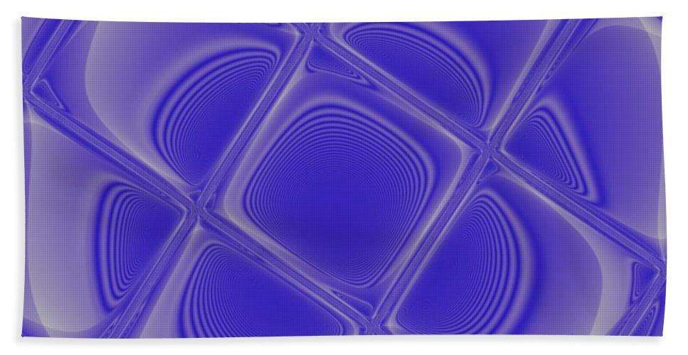 Geometric Hand Towel featuring the digital art Indigo Petals Morphed by Pharris Art