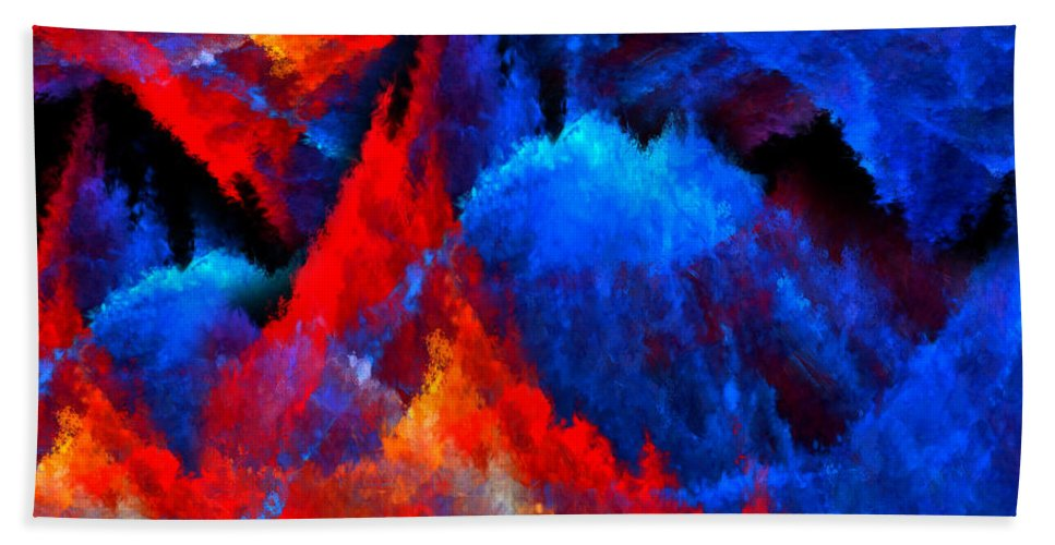 Colors Bath Sheet featuring the digital art Inducers by Lourry Legarde