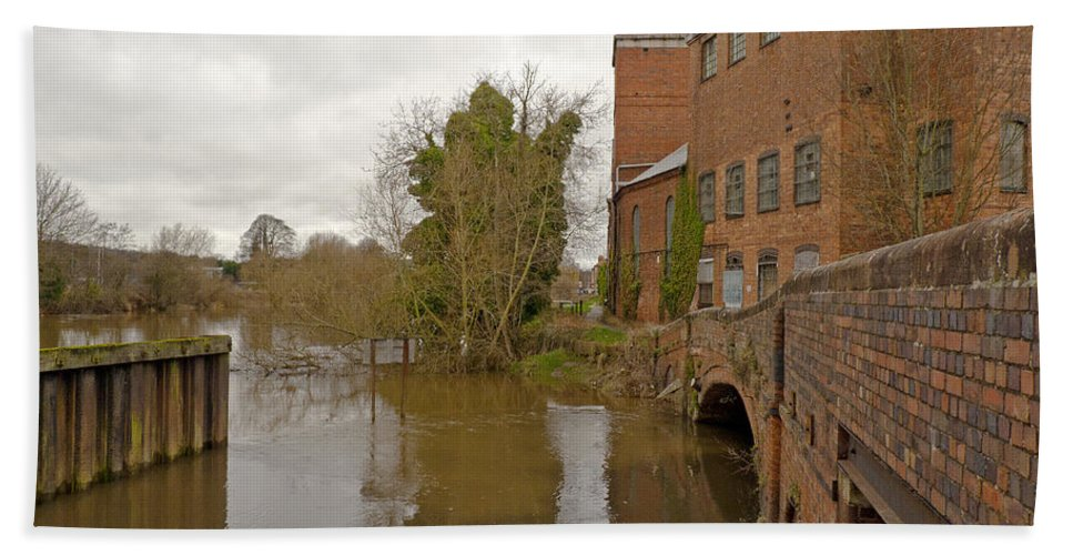 River Severn Bath Sheet featuring the photograph Industrial Architecture by Tony Murtagh