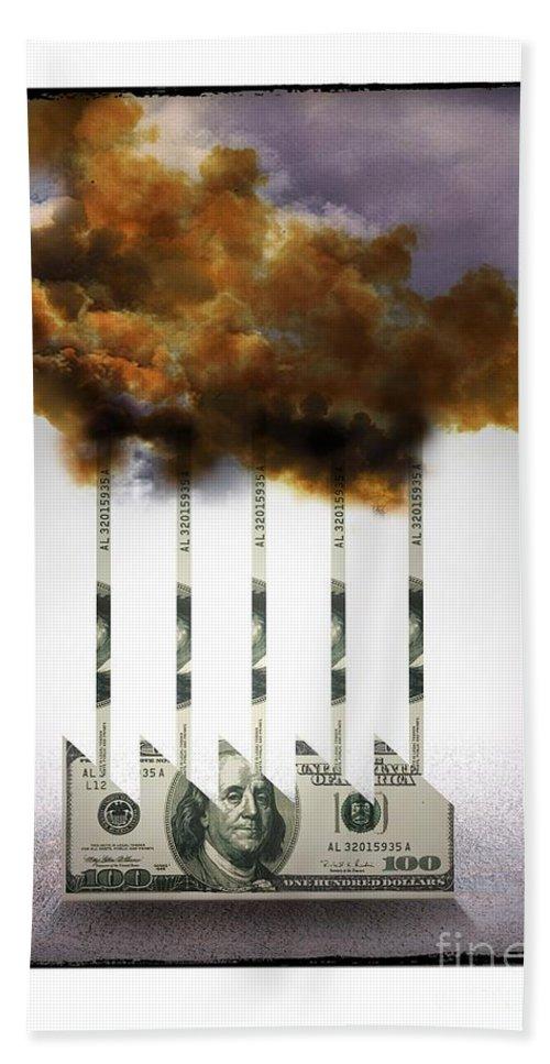 Industry Hand Towel featuring the digital art Industry by Chris Van Es