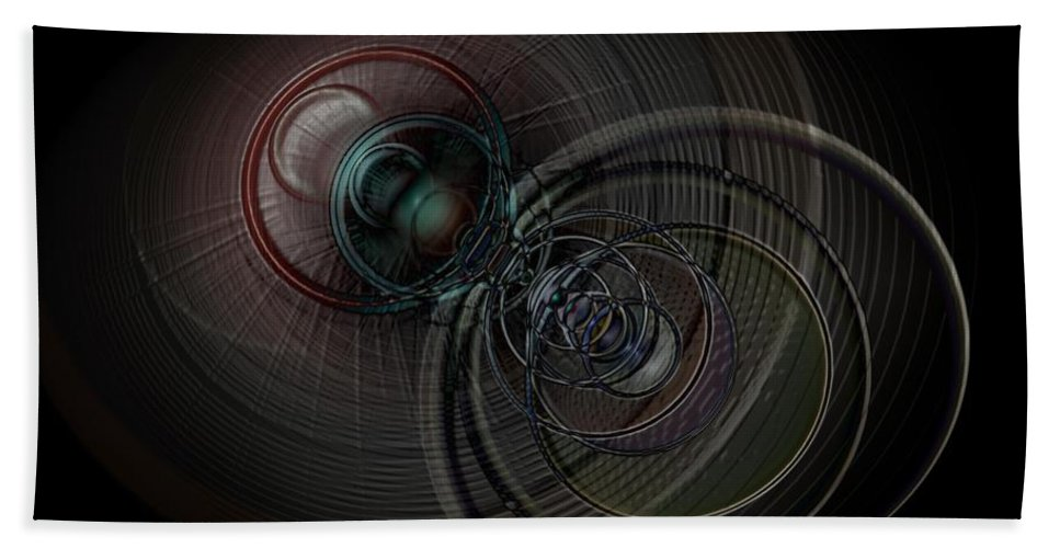 Infinite Hand Towel featuring the digital art Echoes Of A Soul 1 by Linda Philipp