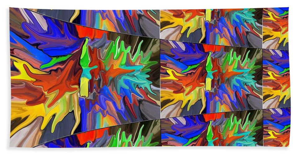 Colorful Abstract Bath Sheet featuring the digital art Infinity by Chris Butler