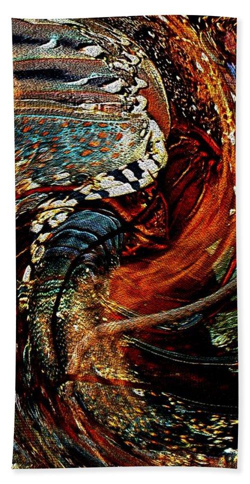 Modern Art Bath Sheet featuring the photograph Infinity Dancer 4 by Cj Carroll