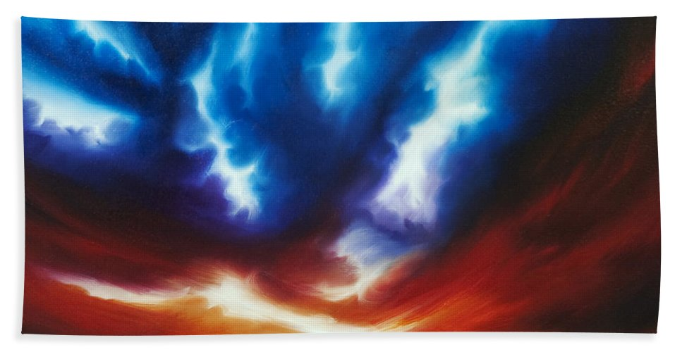 Copyright 2014 - James Christopher Hill Hand Towel featuring the painting Infinity by James Christopher Hill