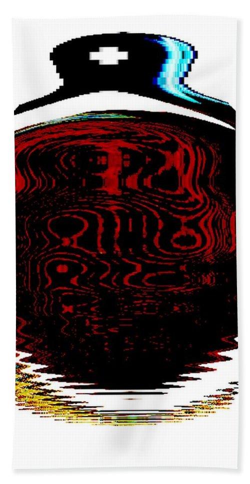 Modern Art Bath Sheet featuring the photograph Infinity Jar White Cross by Cj Carroll