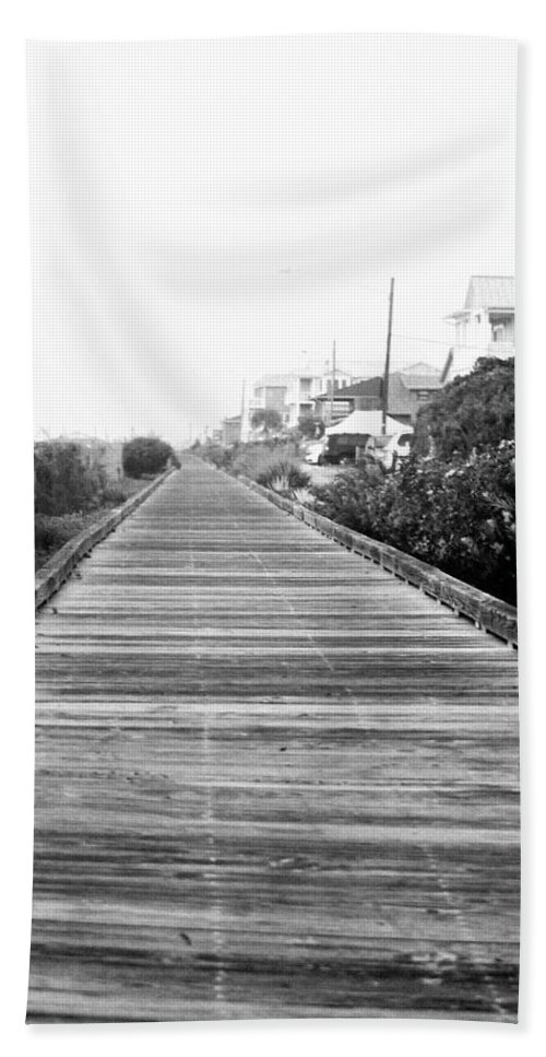 Boardwalk Hand Towel featuring the photograph Infinity by Mary Hahn Ward