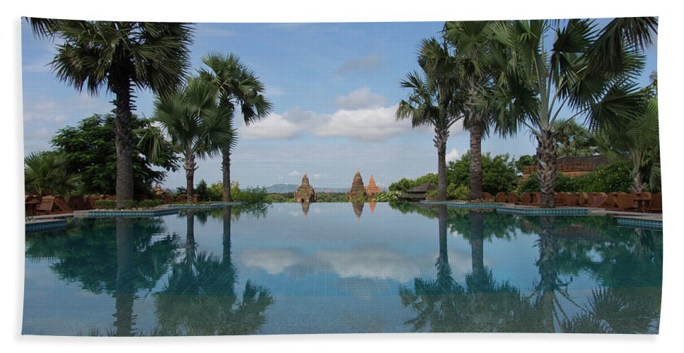 Photography Bath Sheet featuring the photograph Infinity Pool Of Aureum Palace Hotel by Panoramic Images