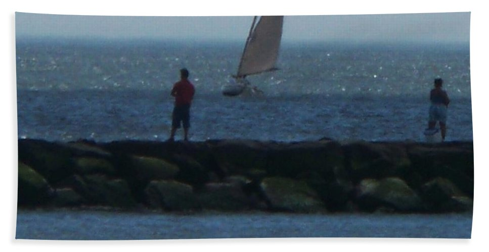 Inlet Hand Towel featuring the photograph Inlet At West Cape May Nj by Eric Schiabor