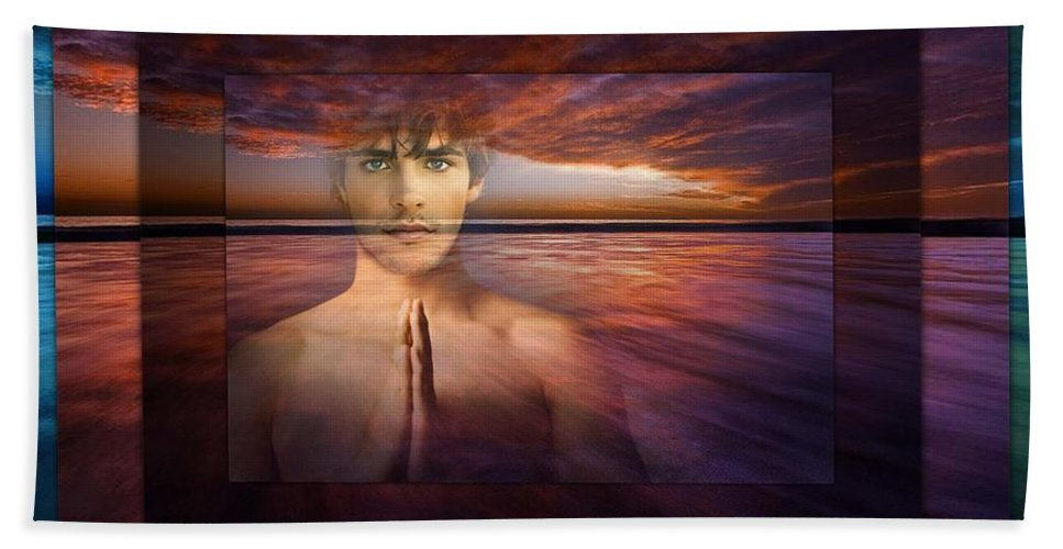 Clouds Bath Sheet featuring the photograph Inner Bliss by Richard Laeton