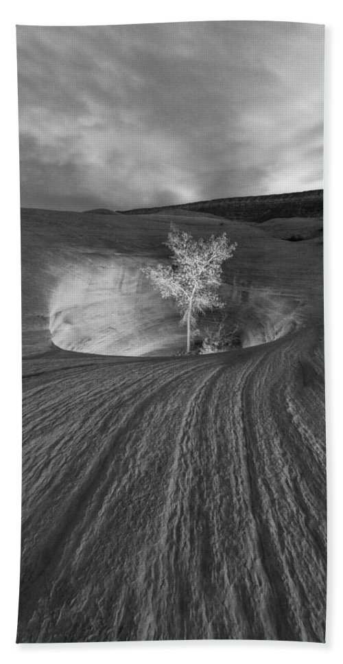 Escalante Bath Sheet featuring the photograph Inner Light Bw by Dustin LeFevre