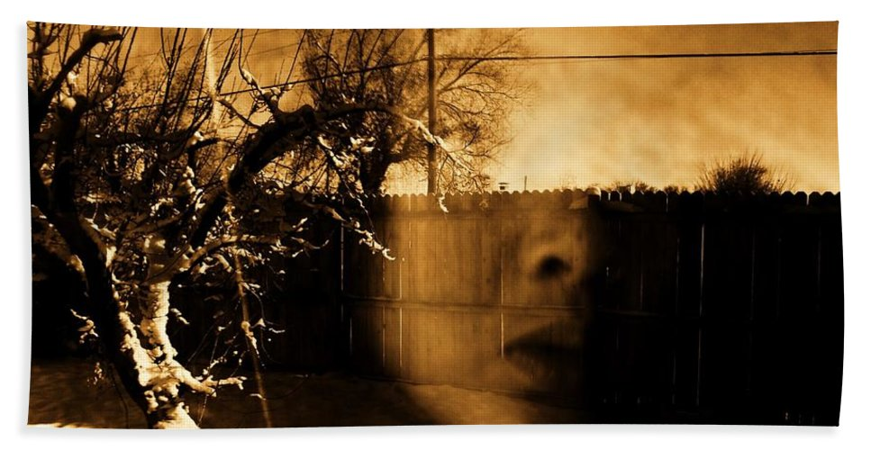 Sepia Bath Sheet featuring the photograph Innocents Reflection by Jessica Shelton