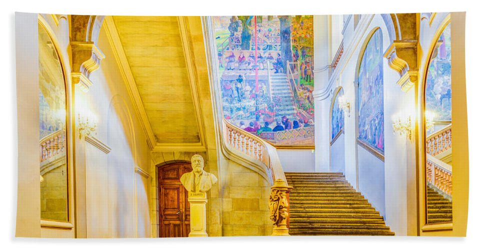 Art Hand Towel featuring the photograph Inside Capitole De Toulouse by Semmick Photo