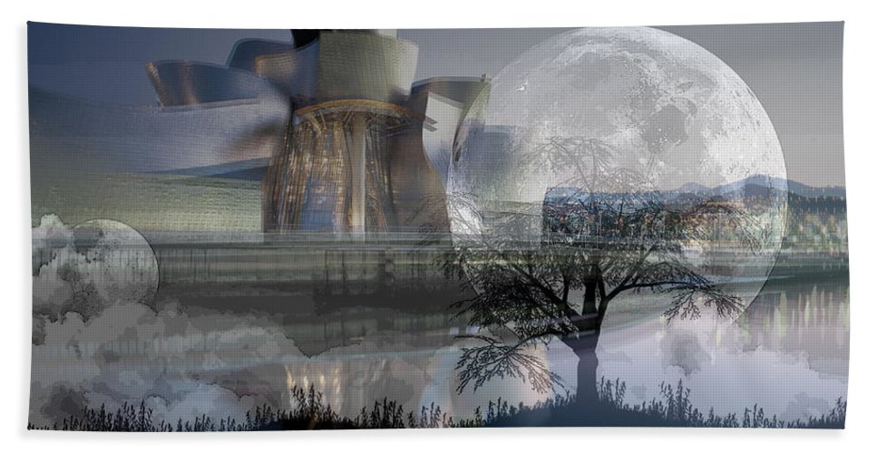 Art Hand Towel featuring the digital art Inside Out Painting by Marvin Blaine